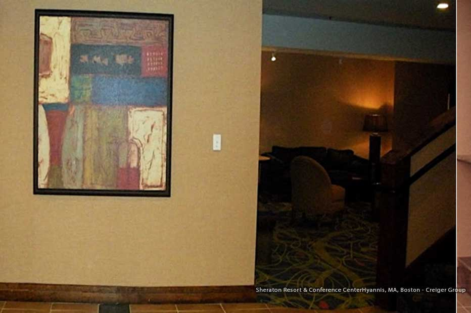 Boston Art Rentals - Creiger Group - Sheraton Resort & Conference Center Hyannis, MA